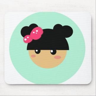 kawaii girl mousepad