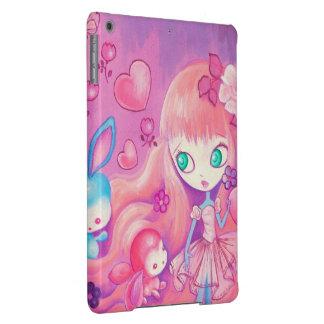Kawaii Girl With Cute Bunnies Cover For iPad Air