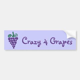 Kawaii Grapes Bumper Sticker