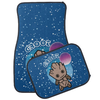 Kawaii Groot In Space Car Mat