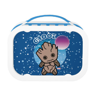 Kawaii Groot In Space Lunch Box
