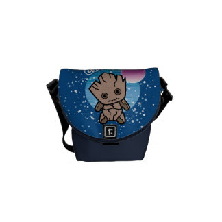 Kawaii Groot In Space Messenger Bag