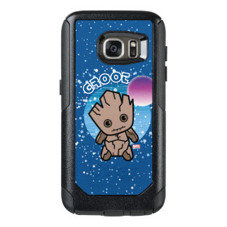 Kawaii Groot In Space OtterBox Samsung Galaxy S7 Case