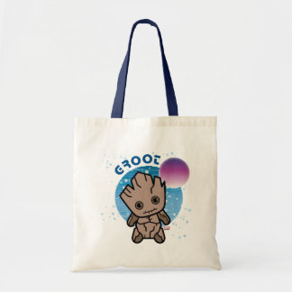 Kawaii Groot In Space Tote Bag