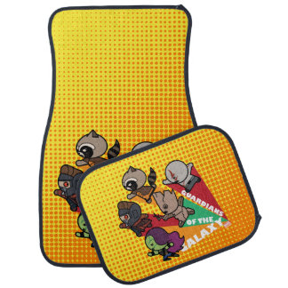 Kawaii Guardians of the Galaxy Group Jump Car Mat
