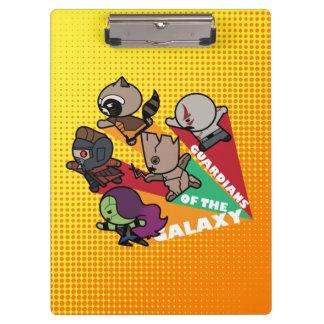 Kawaii Guardians of the Galaxy Group Jump Clipboard