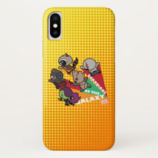 Kawaii Guardians of the Galaxy Group Jump iPhone X Case