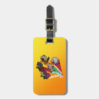 Kawaii Guardians of the Galaxy Group Jump Luggage Tag