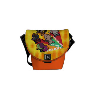 Kawaii Guardians of the Galaxy Group Jump Messenger Bag
