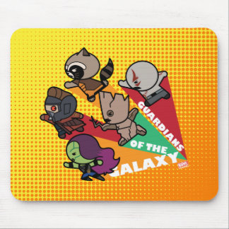 Kawaii Guardians of the Galaxy Group Jump Mouse Pad