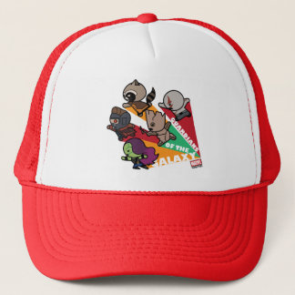 Kawaii Guardians of the Galaxy Group Jump Trucker Hat