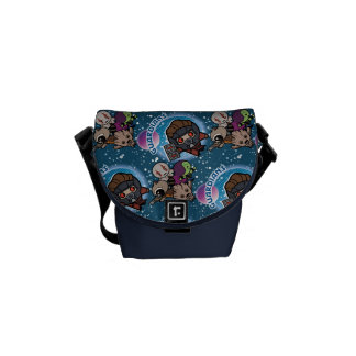 Kawaii Guardians of the Galaxy Pattern Courier Bag