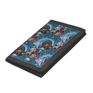Kawaii Guardians of the Galaxy Pattern Tri-fold Wallets