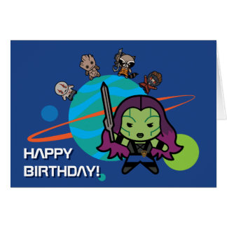 Kawaii Guardians of the Galaxy Planet Graphic Card