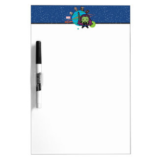 Kawaii Guardians of the Galaxy Planet Graphic Dry Erase Board