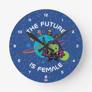 Kawaii Guardians of the Galaxy Planet Graphic Round Clock