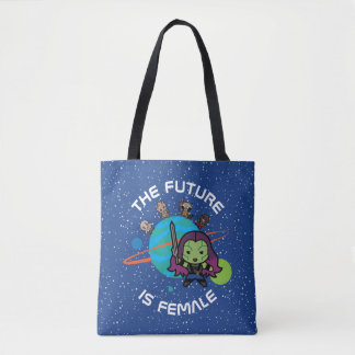 Kawaii Guardians of the Galaxy Planet Graphic Tote Bag