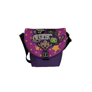 Kawaii Guardians of the Galaxy Star Graphic Courier Bags