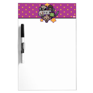 Kawaii Guardians of the Galaxy Star Graphic Dry Erase Board