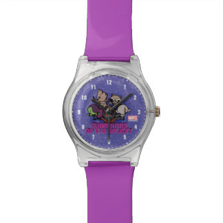 Kawaii Guardians of the Galaxy Swirl Graphic Watch