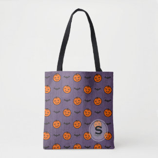Kawaii Halloween Pumpkin Pattern Tote Bag