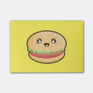 Kawaii hamburger post-it notes