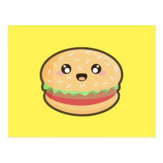 Kawaii hamburger postcard