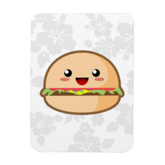 Kawaii Hamburger Rectangular Photo Magnet