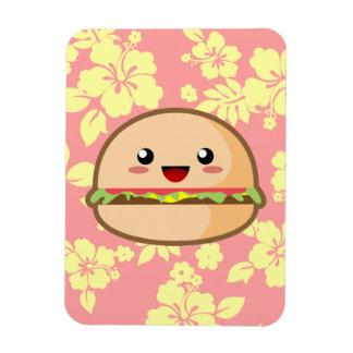 Kawaii Hamburger Rectangular Photo Magnet