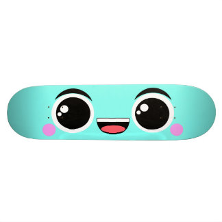 Kawaii Happy Anime Faced Aqua 21.6 Cm Skateboard Deck