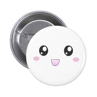 Kawaii happy face buttons