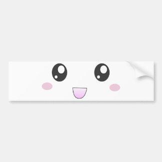 Kawaii happy face bumper stickers