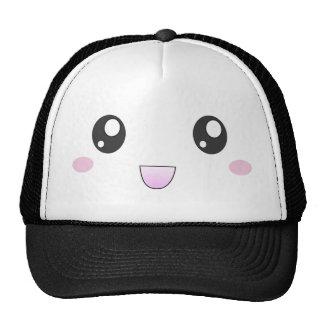 Kawaii happy face hats
