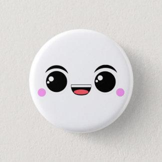 Kawaii Happy Faced 3 Cm Round Badge