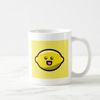 Kawaii Happy Lemon Basic White Mug