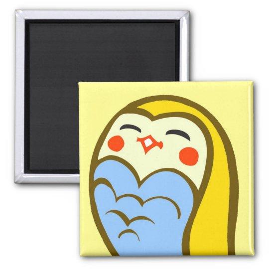 Kawaii Happy Owl Magnet