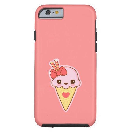 Kawaii Happy Strawberry Ice cream cone iPhone 6 Case