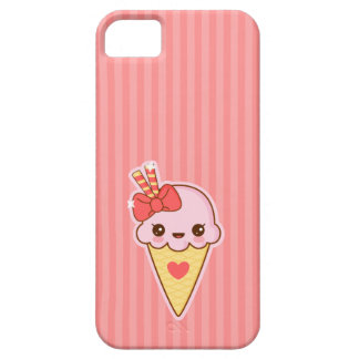 Kawaii Happy Strawberry Ice cream cone iPhone 5 Cases