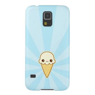 Kawaii Happy vanilla Ice cream cone Case For Galaxy S5