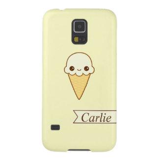 Kawaii Happy vanilla Ice cream cone personlized Galaxy S5 Cover