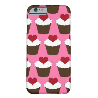 Kawaii heart cute girly cupcake hearts pattern barely there iPhone 6 case