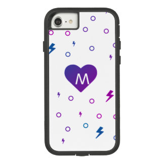 Kawaii Heart Pattern Monogram Case-Mate Tough Extreme iPhone 8/7 Case