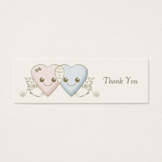 Kawaii Hearts Entwined Wedding Favor / Favour Tag