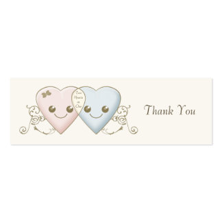 Kawaii Hearts Entwined Wedding Favor Favour Tag Business Card Templates