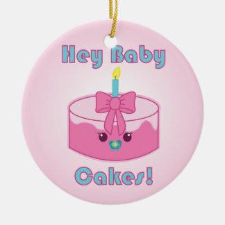 Kawaii Hey Baby Cakes ornament