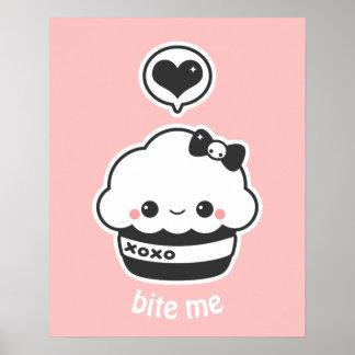 Kawaii Hugs and Kisses Cupcake Poster