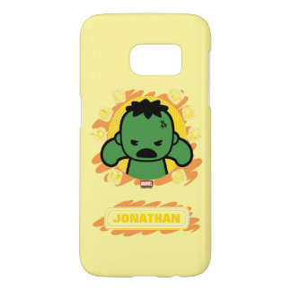 Kawaii Hulk With Marvel Hero Icons