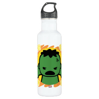 Kawaii Hulk With Marvel Hero Icons 710 Ml Water Bottle