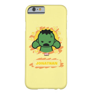 Kawaii Hulk With Marvel Hero Icons Barely There iPhone 6 Case