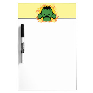 Kawaii Hulk With Marvel Hero Icons Dry Erase Board